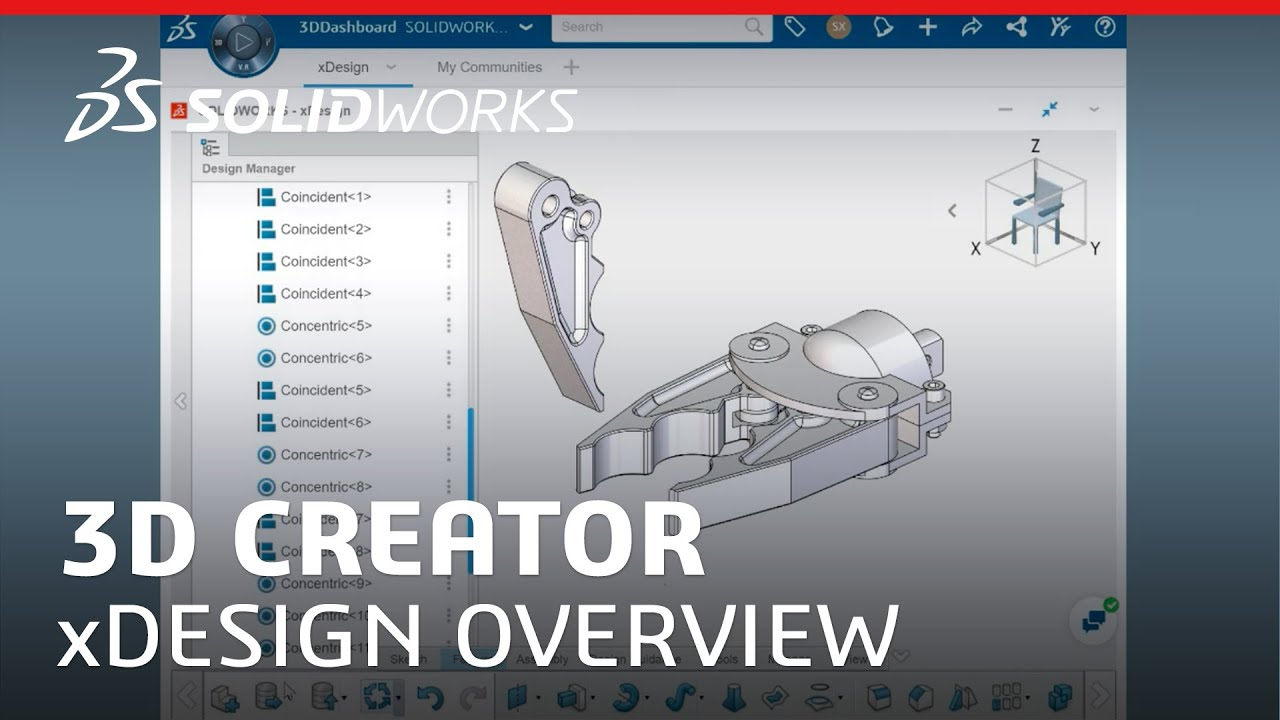 3d Creator Xdesign Overview Training Video Solidworks Youtube
