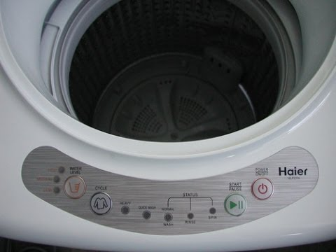 Washing Haier Portable Washer HLP21N Pulsator 1-Cubic-Foot ...