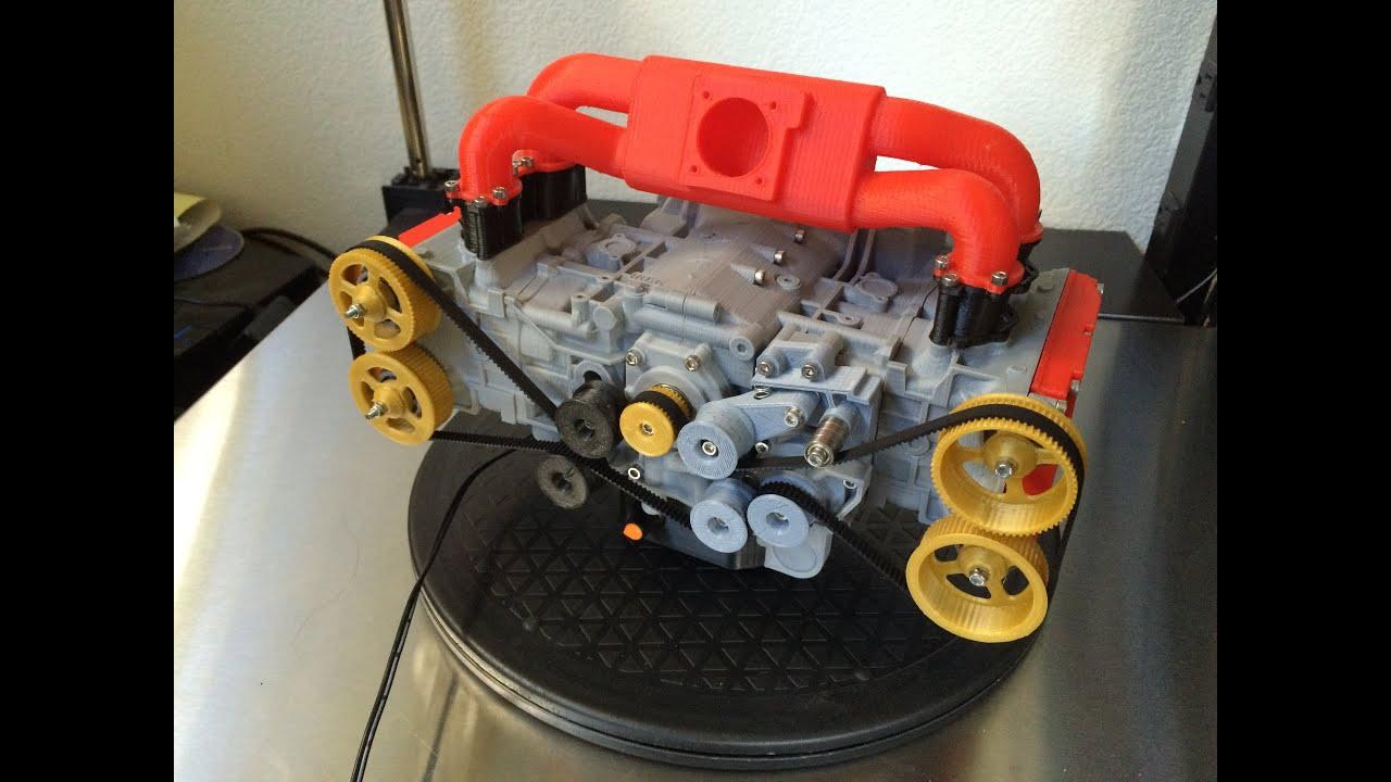 3d printed subaru ej20 wrx engine functional model youtube rh youtube com Air Cooled VW Engine Rebuild VW Sand Rail Engine