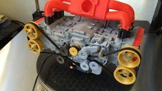 3D Printed Subaru EJ20 WRX Engine - Functional Model