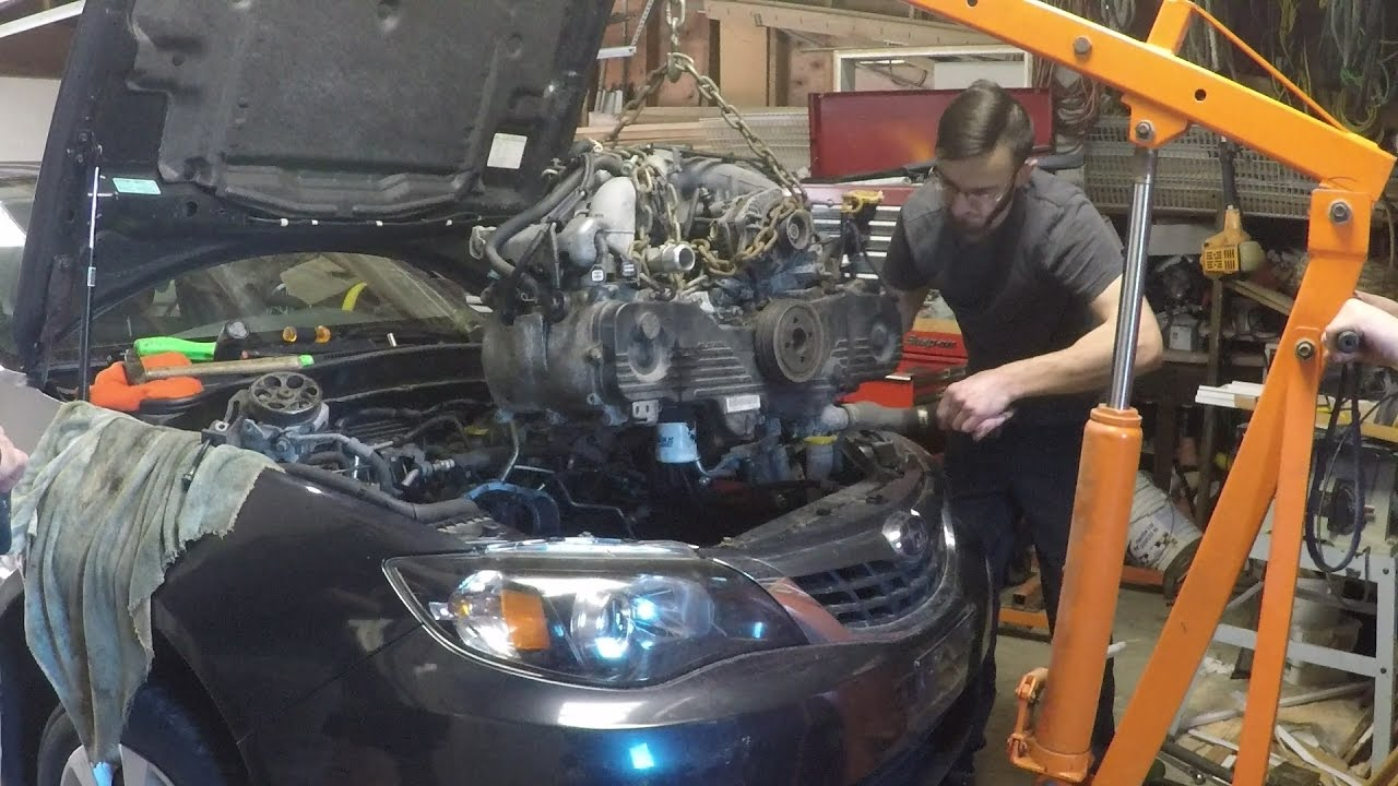 How to Remove Subaru EJ25 engine
