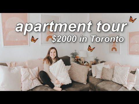 🏠APARTMENT TOUR | $2000/month In Toronto Boho-decor Condo Tour
