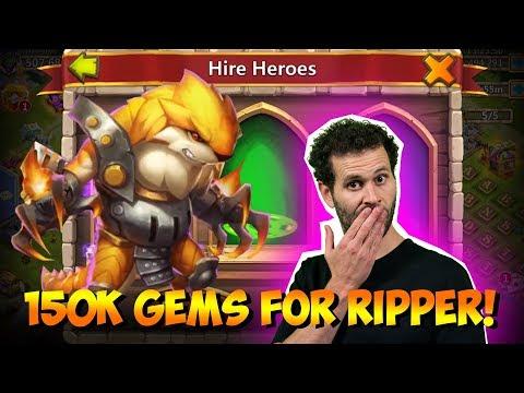 150,000 For RIPPER New Hero ONETIME! Castle Clash
