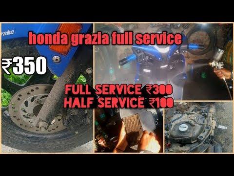 Honda grazia full service || only 350 || crazzi vlogs