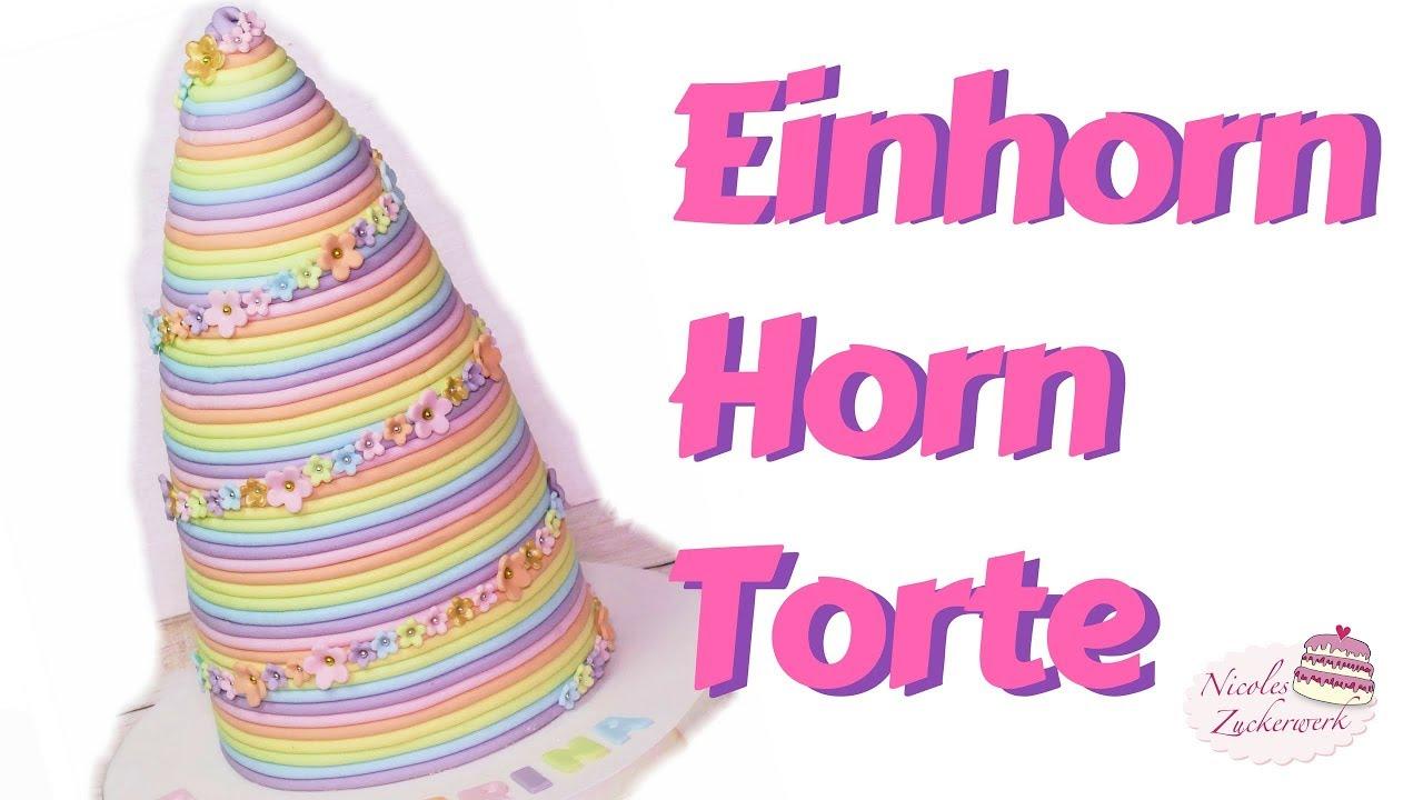 Einhorn Horn Motivtorte I Regenbogentorte I Fondanttorte I Unicorn