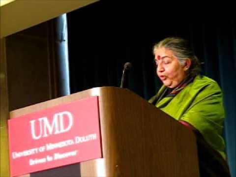 "Dr. Vandana Shiva - ""Making Peace with the Earth"""