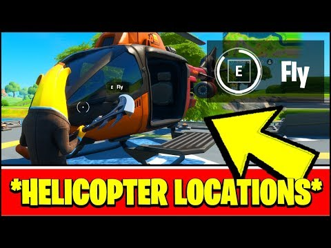 HELICOPTER LOCATIONS In FORTNITE (ALL HELICOPTER LOCATIONS & HELICOPTER GAMEPLAY)