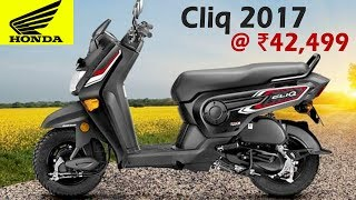 Honda Cliq 110 cc Scooter Launched In India @ ₹42,499 | Specifications, Features, Speed