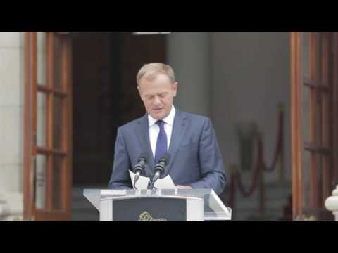 Press Conference - Taoiseach Enda Kenny and European Council president Donald Tusk