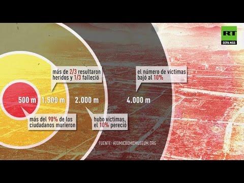 Así fue el efecto mortal de la bomba atómica en Hiroshima y Nagasaki