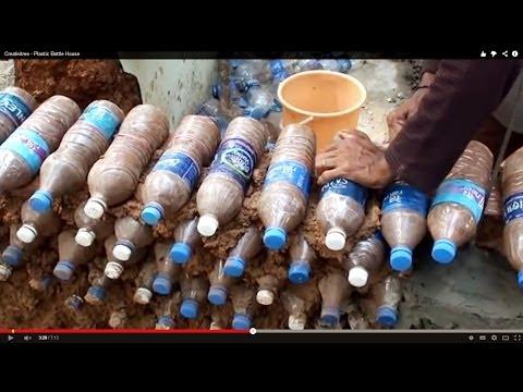 Plastic Bottle construction - പ്ലാസ്റ്റിക് കുപ്പികൾ കൊണ്ട് വീട് നിർമ്മാണം