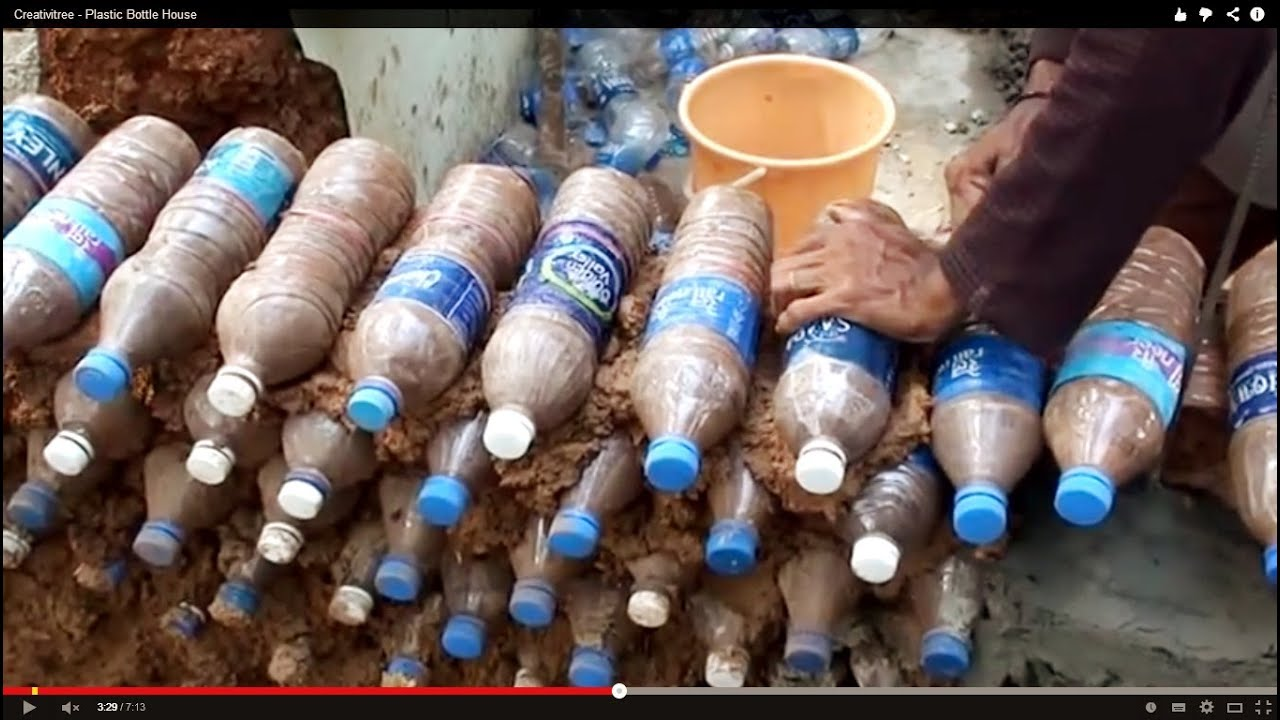 Build a house out of plastic fire proof bullet proof and well insulated spirit earth awakening - Building a house with plastic bottles ...