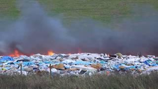 Brand op vuilstortplaats in Farmsum