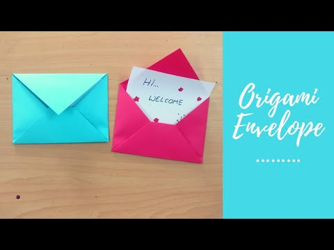How To Make Envelope With Paper Without Glue | DIY | Paper Crafts | Origami Envelope