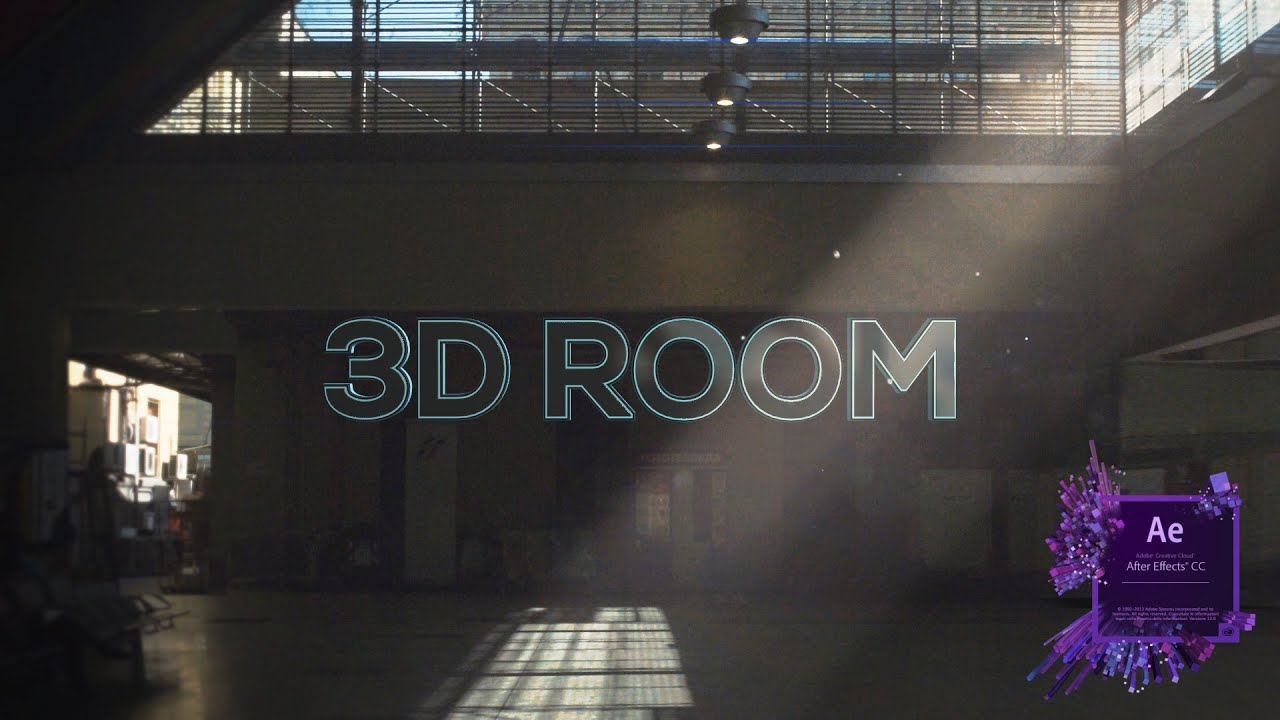 make a 3d room from a 2d picture after effects tutorial