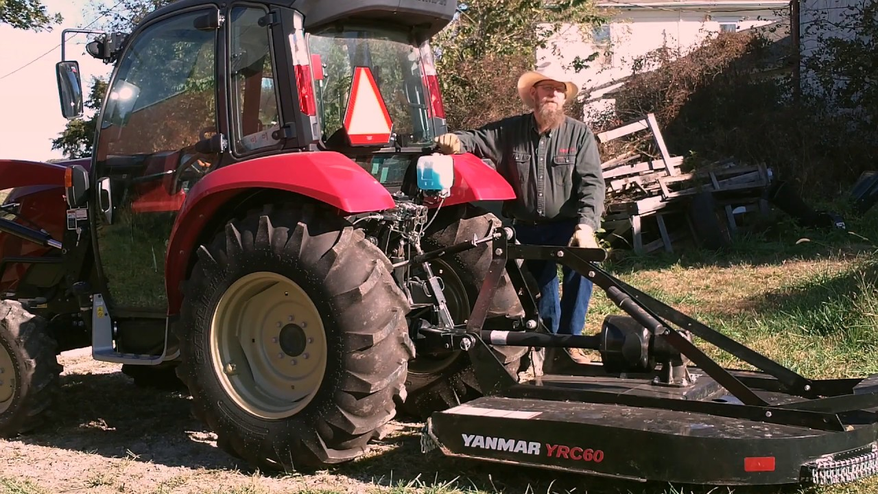 attaching tractor implements with the yanmar 3 point hitch [ 1280 x 720 Pixel ]