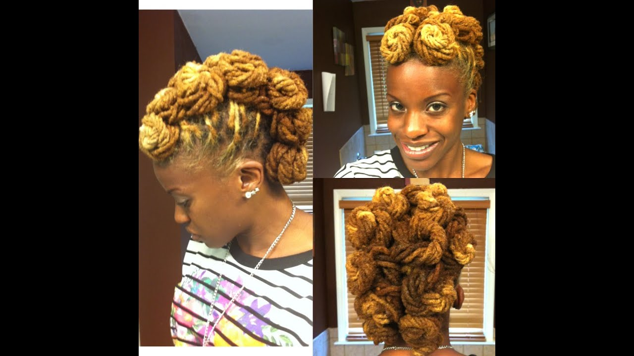 ... Wedding Locs Updo For My Sister's (Camille) Wedding - YouTube
