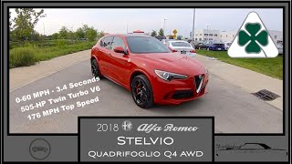 2018 Alfa Romeo Stelvio Quadrifoglio Q4 AWD Walk Around Video In Depth Review