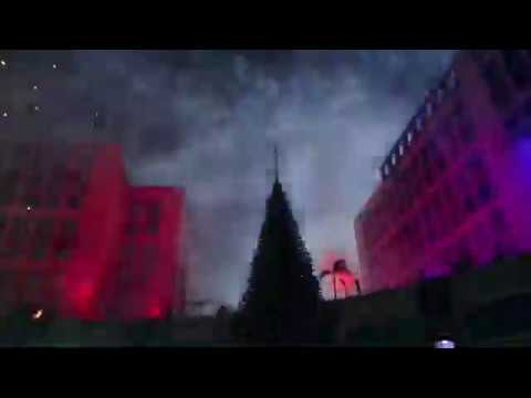 Christmas Tree Lights Up In Beverly Hills Of Egypt