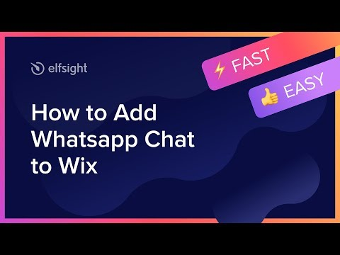 How To Add Whatsapp Chat To Wix (2019)