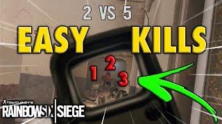 BOM POSICIONAMENTO, FÁCEIS ELIMINAÇÕES!   Highlight #52   Rainbow Six Siege