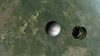 Vostok 1 re-entry