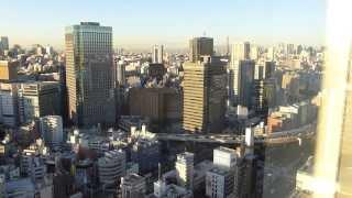 h25 11 19 さとちゃん 東京ドームホテル客室より 朝の東京