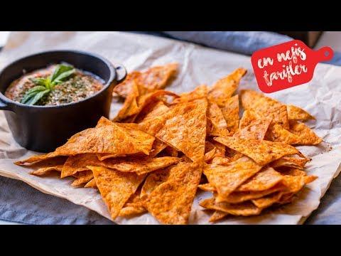 Yufkadan Cips Nasıl Yapılır? Ev Yapımı Doritos Cips (Salçalı Baharatlı Cips)