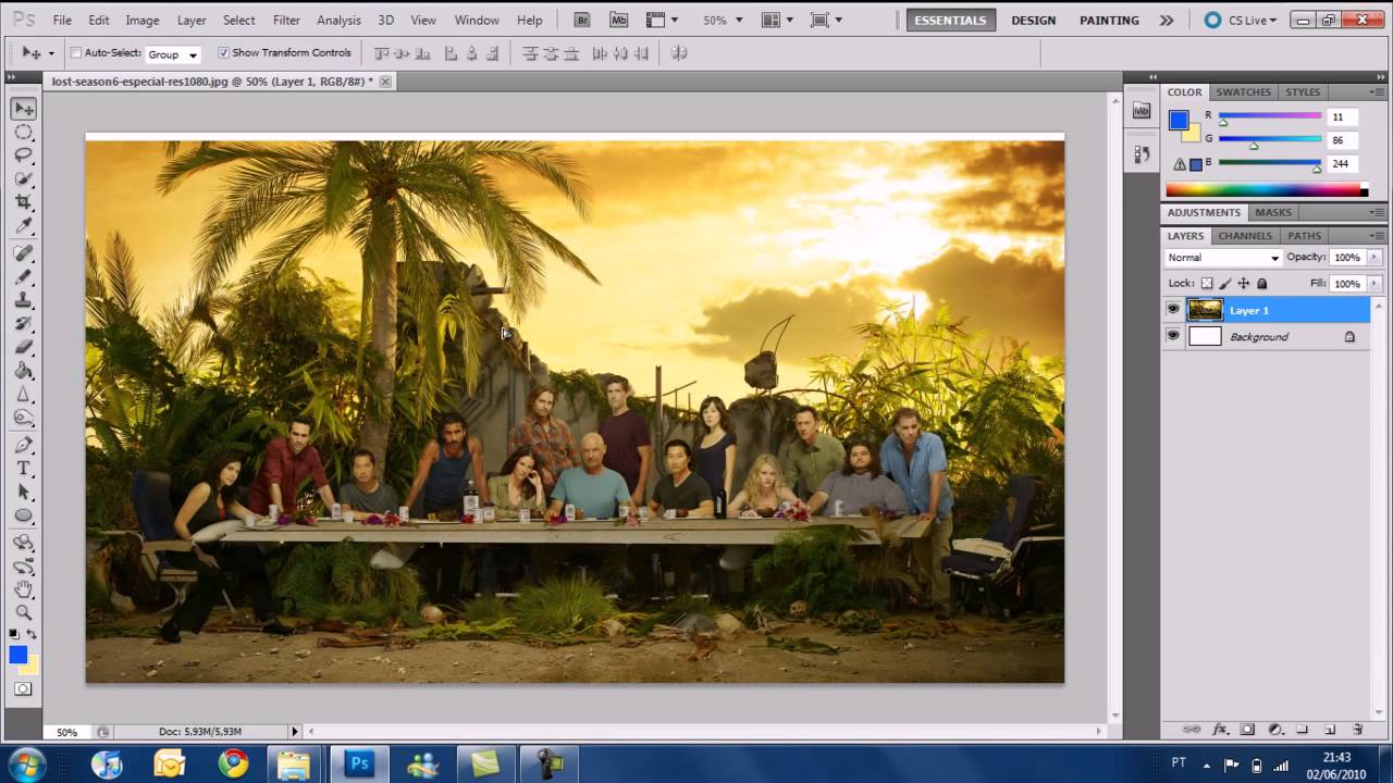 Photoshop cs5 tutorial basic tools youtube baditri Choice Image