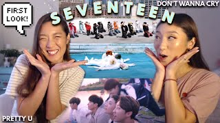 Download lagu FIRST TIME REACTING TO SEVENTEEN: Don't Wanna Cry, Pretty U, Performance Team MV 💎 SISTERS REACTION