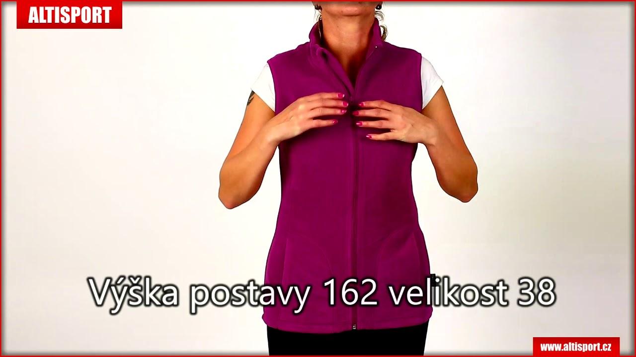 dámská fleecová vesta stedman active cupcake pink - YouTube 32b45e511b