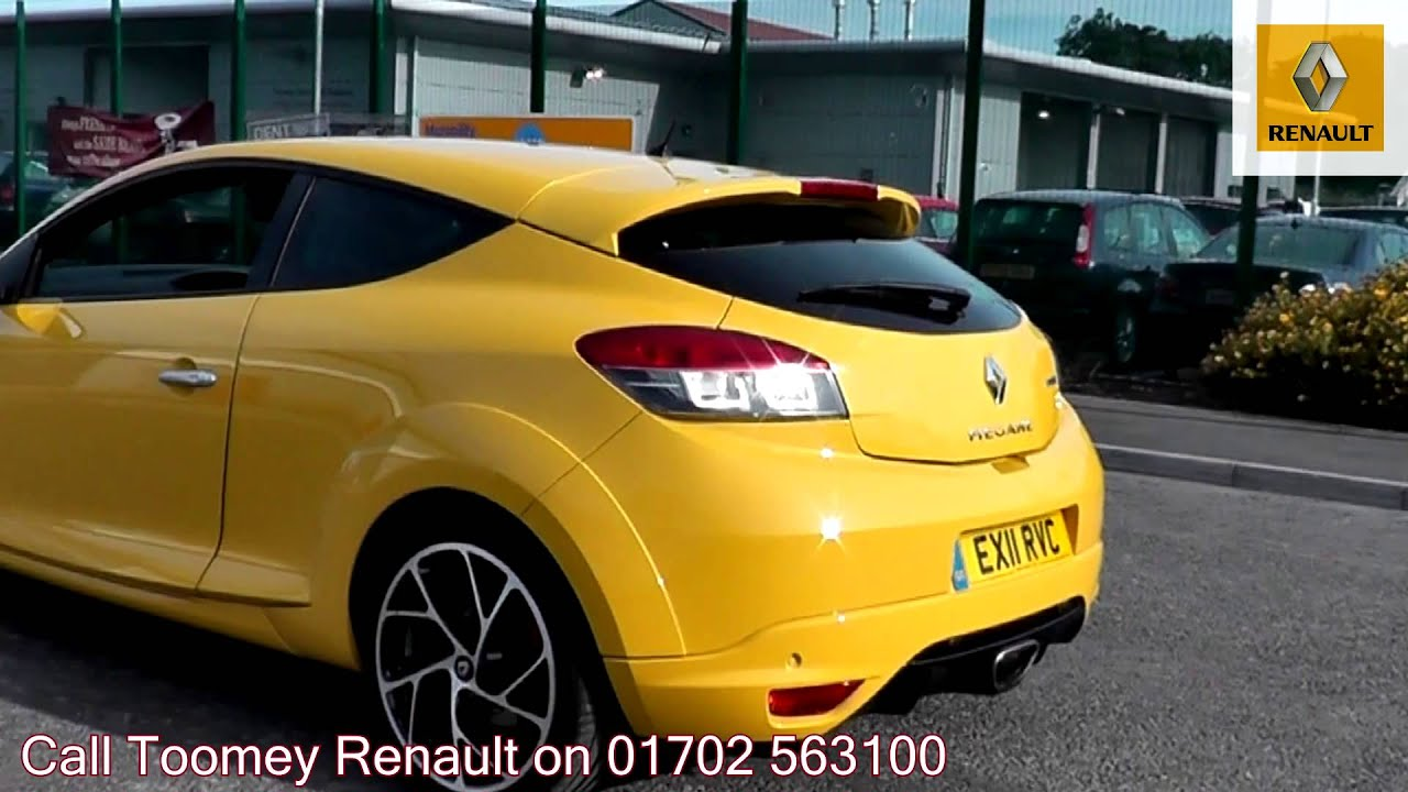 2011 Renault Megane Coupe Renaultsport 250 2l Yellow EX11RVC For Sale At  Toomey Renault Southend   YouTube