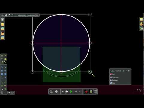 Algodoo Webinar - Combine shapes with CSG