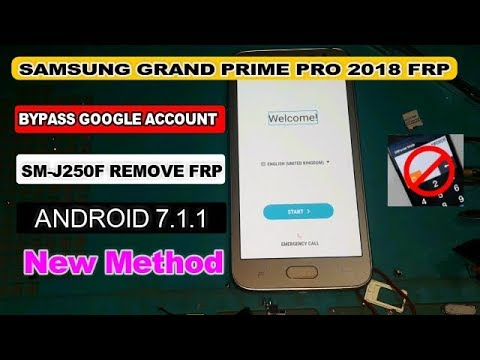 SAMSUNG GRAND PRIME PRO 2018 BYPASS FRP GOOGLE ACCOUNT 2018