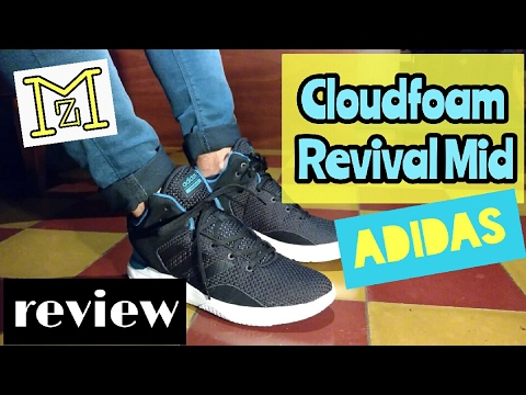 57316db30ca5 Review Adidas Cloudfoam Revival Mid - YouTube