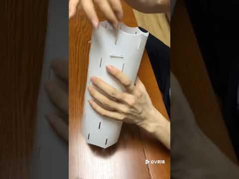 Q-Plusmore  DIY Lotus Lampshade Kit Assembly