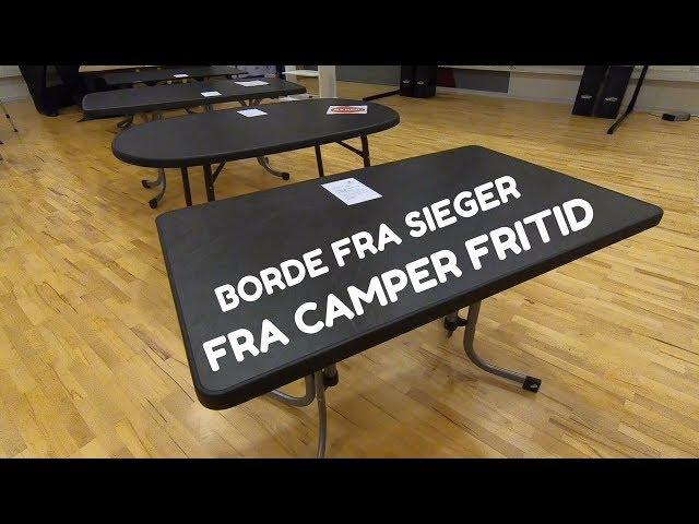 Sieger borde hos Camper Fritid
