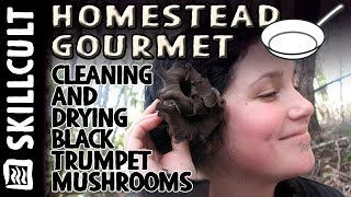 Collecting, cleaning, drying and storing black trumpet mushrooms fast, (a.k.a. horn of plenty)