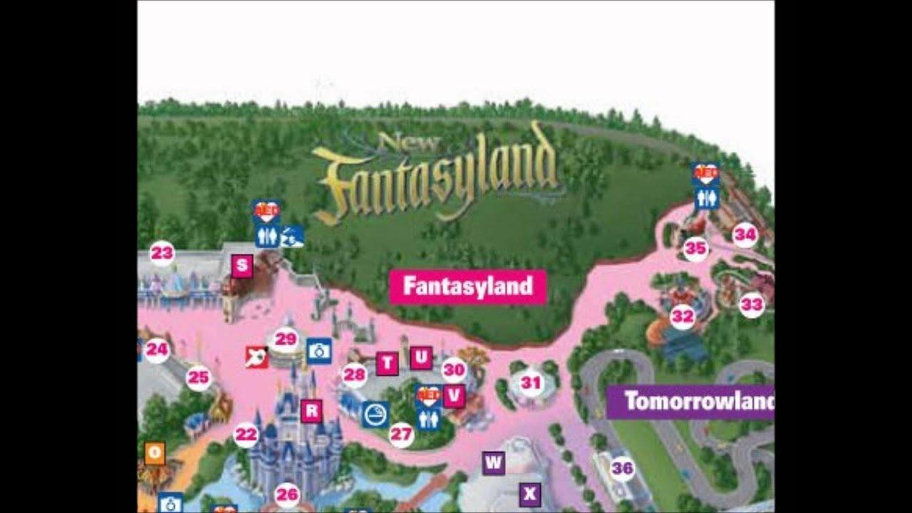 Fantasyland Disney World Interactive map - YouTube
