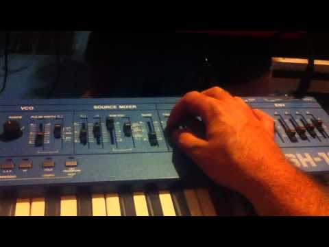Dueling Roland SH101's