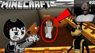 BENDY FIGHTS GRANNY IN MINECRAFT! (Granny Minecraft Mod Part 2)