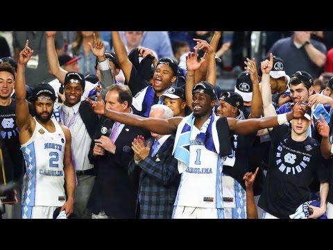 North Carolina celebrates 2017 National Title - Trophy Presentation