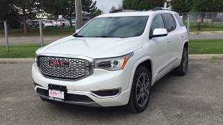 2018 GMC Acadia Denali AWD Surround View Camera System Dual Sunroof White Oshawa ON Stock# 180012