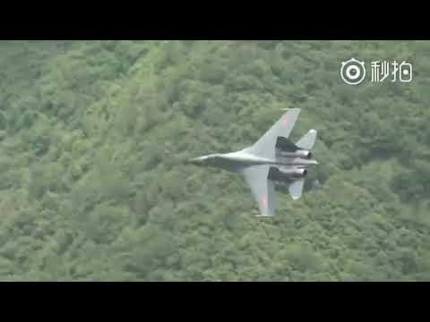 Watch as Chinese J-11 fighter jets demonstrate hedgehopping capability during training