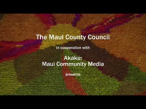 Maui County Budget & Finance Committee, Monday Oct. 24, 2017