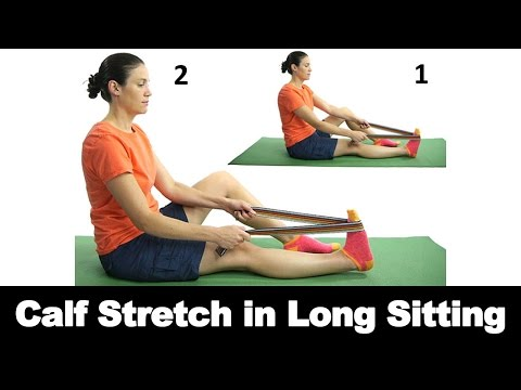 Calf Stretch in Long Sitting Ask Doctor Jo