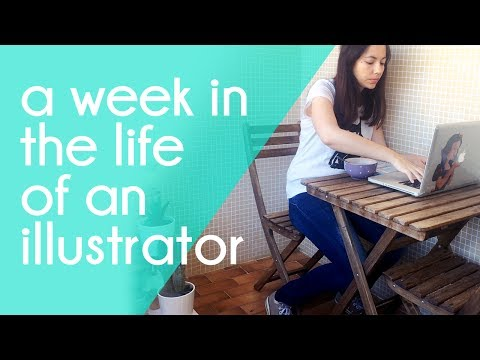 Week in the life of an Illustrator: book illustrating and cafe working