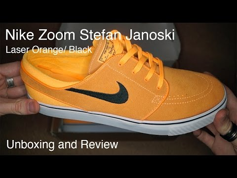 buy online ae3ae 16a36 Nike Zoom Stefan Janoski Laser Orange Unboxing and Review