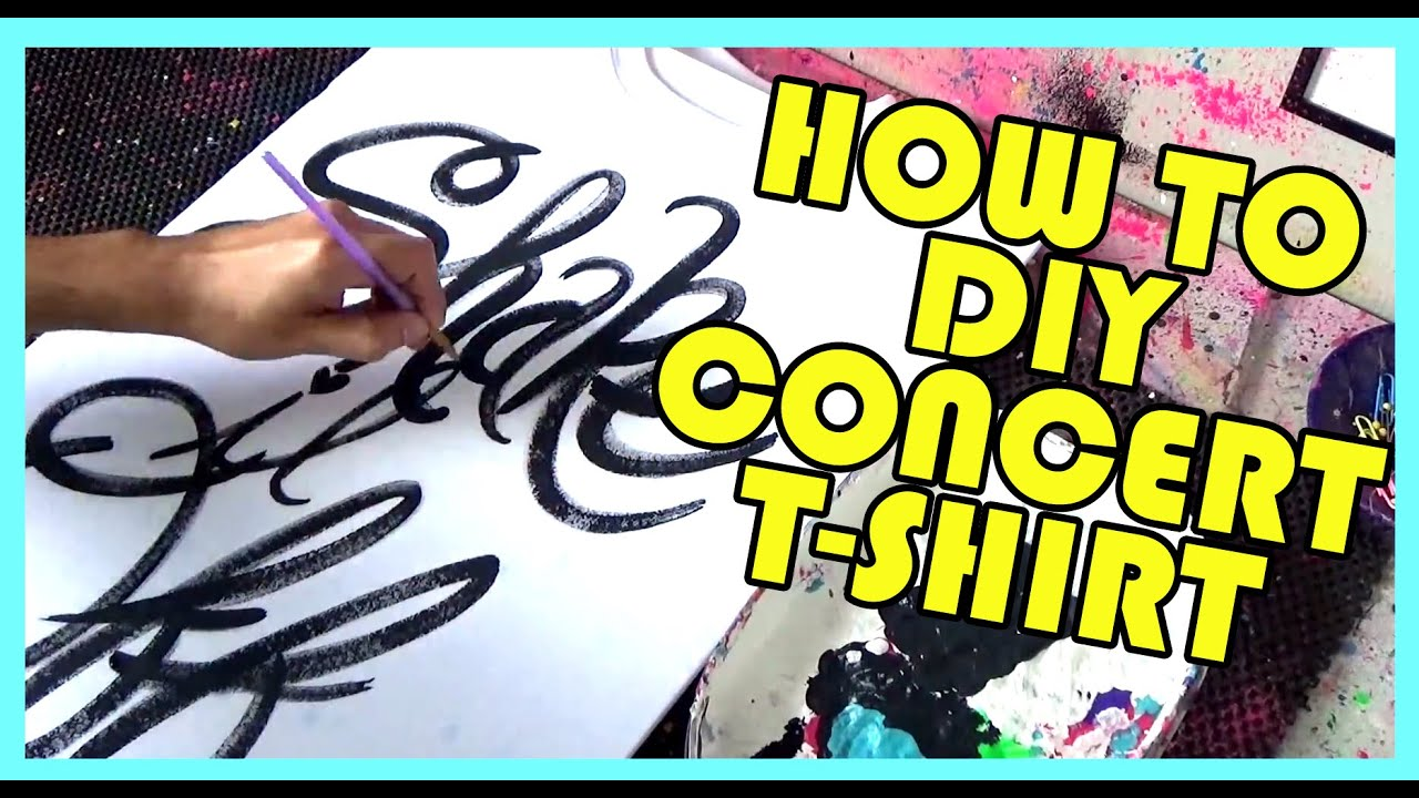 How To DIY Taylor Swift Shake It Off Concert Shirt Ideas Tutorial ...