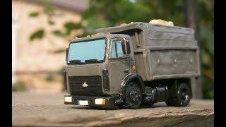 мАЗ 5551 мини грузовик из пластилина своими руками
